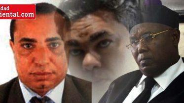 Los tres jueces destituidos por el Consejo del Poder Judicial.
