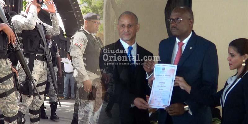 Photo of El Cañero recibe certificado protegido por una muralla de fusiles
