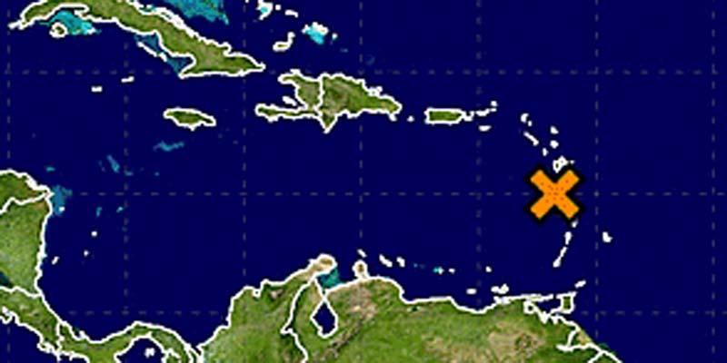 Imagen de la localización de la onda tropical al 31 de Julio 2016