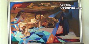Pinturas como esta están en los distinto sniveles del Palacio Municipal, fueron compradas de grado a grado, según el regidor Soto Lara