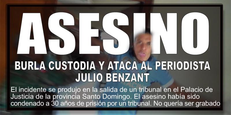 Photo of Vea lo que sucede al periodista Julio Benzant cuando graba dos asesinos