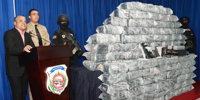 Cocaína de la que se incautaron las autoridades en Cumayasa