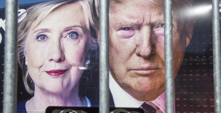 Photo of Trump-Clinton