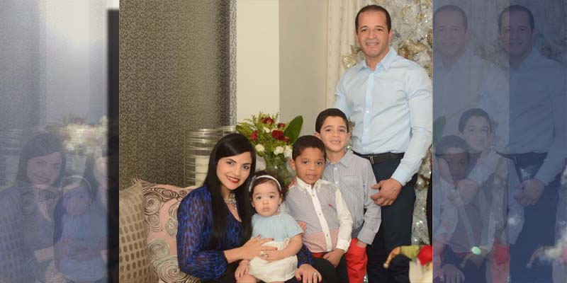Berlisa, Juancito y sus tres hijos