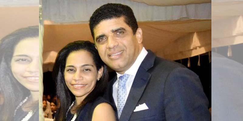 Evelyn Astacio y su esposo Dío