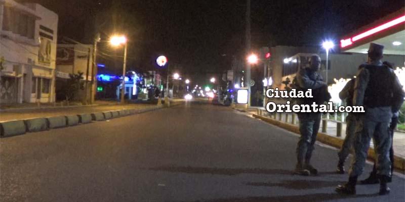 Así estaba la avenida Venezuela la noche del 24 de diciembre de 2016