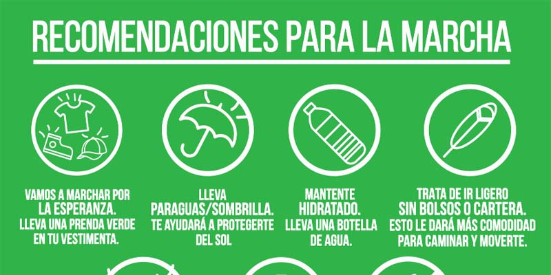 Photo of Recomendaciones a los participantes marcha fin impunidad