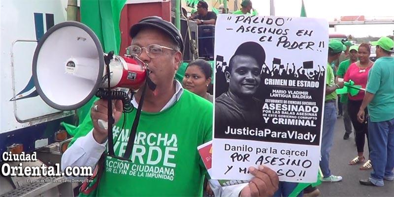 Photo of Oigan lo que dice este activista de Marcha Verde del presidente Medina