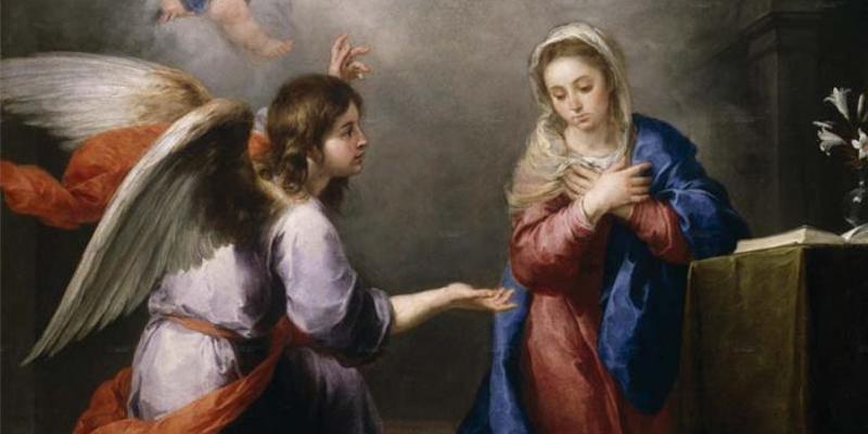 El ángelle da la noticia a María