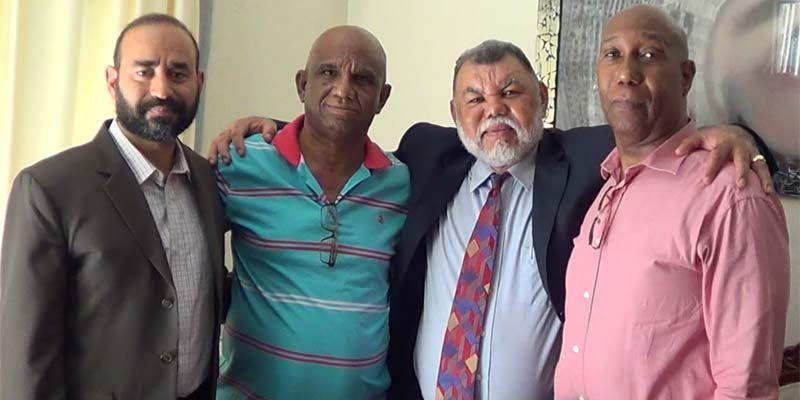 Desde la izquierda, Antonio Reyes Baldwin, Robert Vargas, Rafael Vásquez Garcia y Jorge Bridgwater