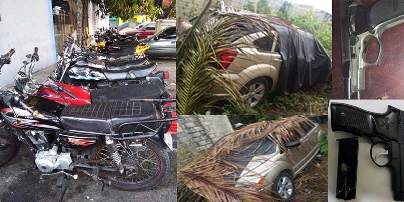 Photo of PN ocupa drogas en SDE, incauta armas y retiene motocicletas