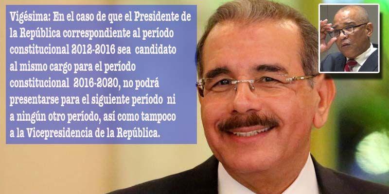 Photo of Impedimento constitucional de reelección no viola derecho de igual del presidente Medina