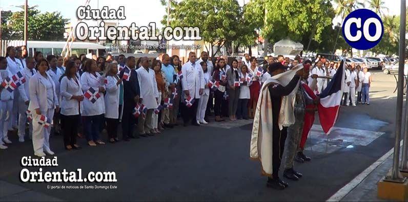 Photo of Realizan parada cívica en Hospital Darío Contreras por Mes de la Patria
