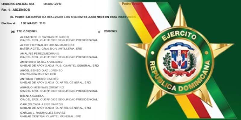 Photo of Aquí todos los ascensos en el Ejército de la República Dominicana
