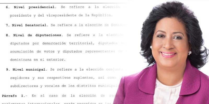 Photo of Este artículo de la Ley de Régimen Electoral podría borrarle la sonrisa a Cristina Lizardo