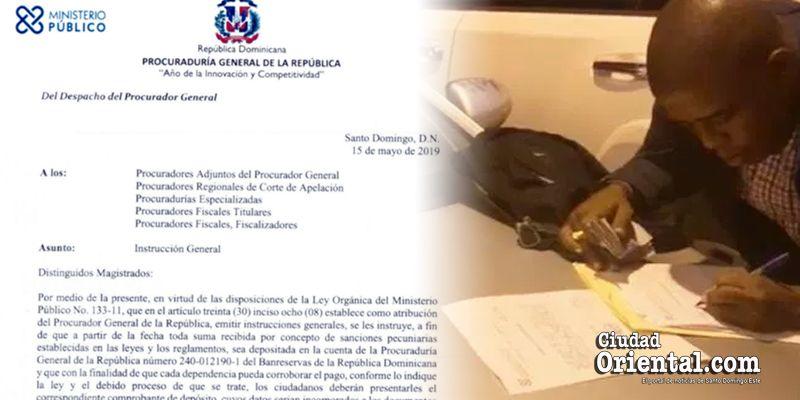 Photo of El Procurador General prohíbe a los fiscales cobrar dinero a presuntos infractores