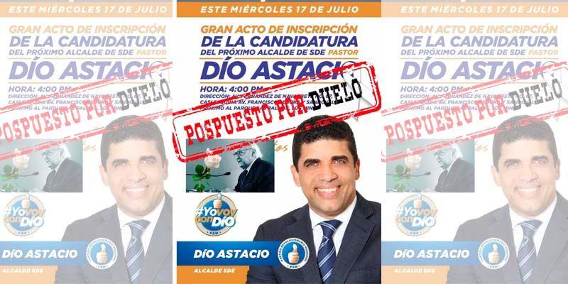 Photo of Posponen inscripción pre candidatura de Dío Astacio por muerte de Hugo Toneltino Dipp