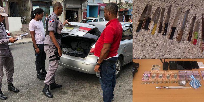 Photo of PN apresa 18 en operativos en barrios de SDE, ocupa 4 armas y recupera 5 motocicletas y un carro