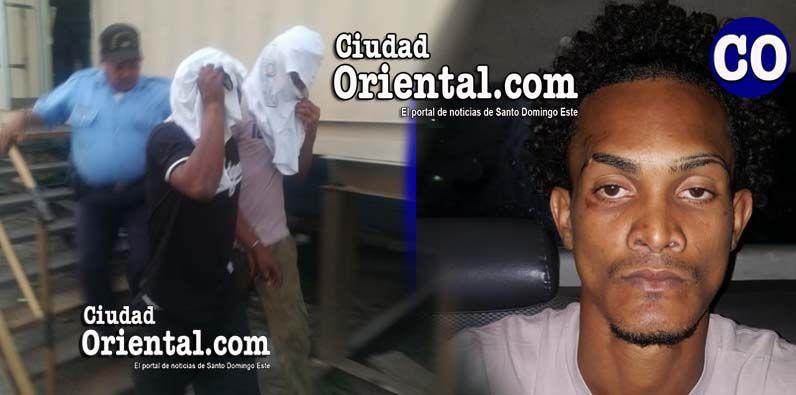 Los dos acusados con capuchas / en el recuadro el imputado Justin Rafael, compañero sentimental de la occisa.
