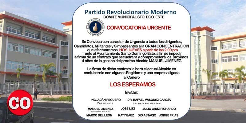 Photo of El PRM planta cara a El Cañero; hoy harán manifestación frente al Palacio Municipal José Francisco Peña Gómez