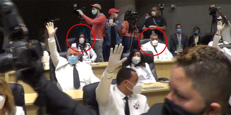 Los encerrados en el círculos rojo se opusieron a que el PRM entregara la Vice Presidencia del ASDE al PLD