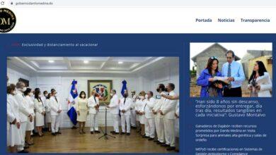 Portal que contiene todas las informaciones de los dos gobiernos de Danilo Medina / Captura de pantalla