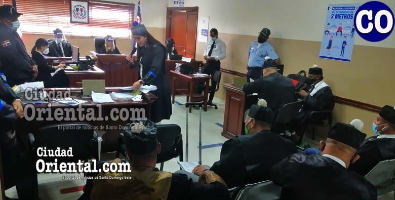 La fiscal Marleny Roa, al momento de leer la acusación.