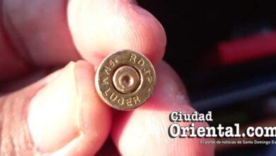 Casquillo de una bala disparada por personal del ASDE en el mercadito de Los Mina Viejo.