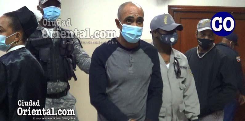 Dagoberto Omar Medina Muñoz, en custodia policial.