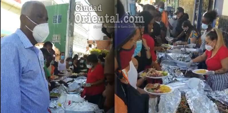 La cena navideña se ha convertido en una tradición en Los Mina.
