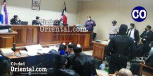 El ex síndico de Bayaguana, Nelson Osvaldo Sosa Martes (a) Opi, durante su intervención.