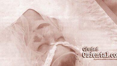 Cadáver de Youssette Carolina Artiles Ruiz, vestido de novia