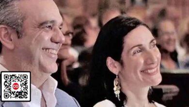 El presidente Luis Abinader y su esposa Raquel Arbaje