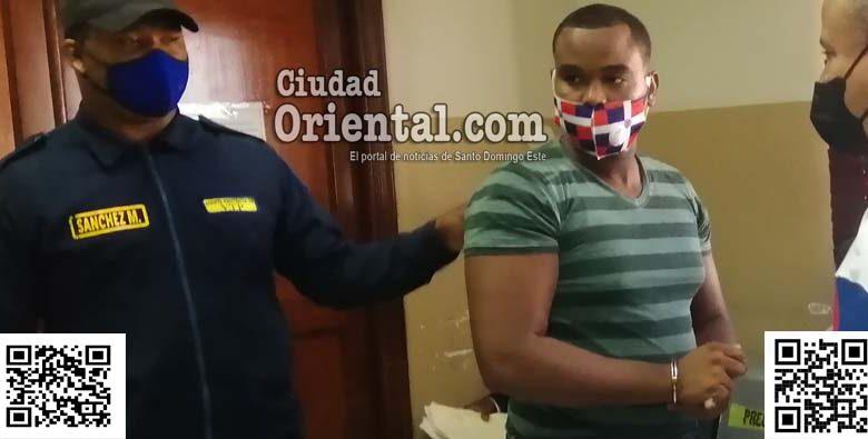 Anthony Junior Mora Castillo, en custodia.