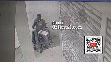 Falso minusválido robando en la avenida Venezuela