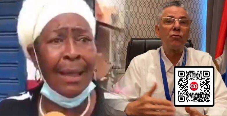 La madre del regidor Bienvenido Cabral y el alcalde Manuel Jiménez
