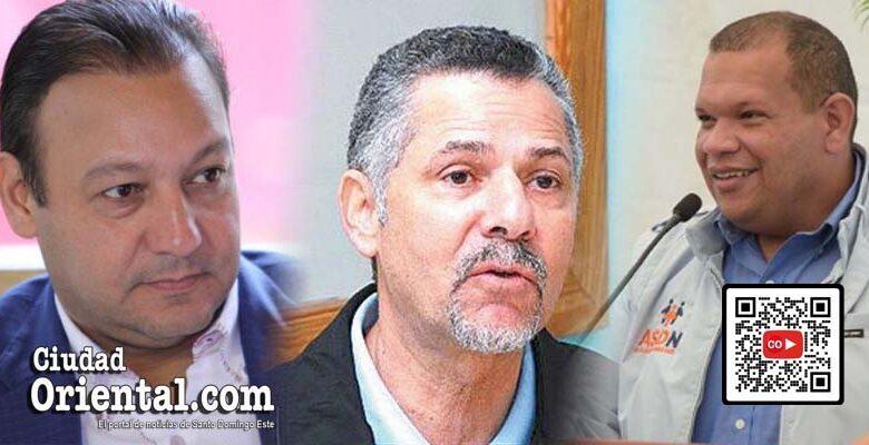 Desde la izquierda, los alcaldes de Santiago, Santo Domingo Este y Santo Domingo Norte, respectivamente