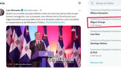 Miguel Ortega es tendencia en Twitter, por encima del presidente Luis Abinader