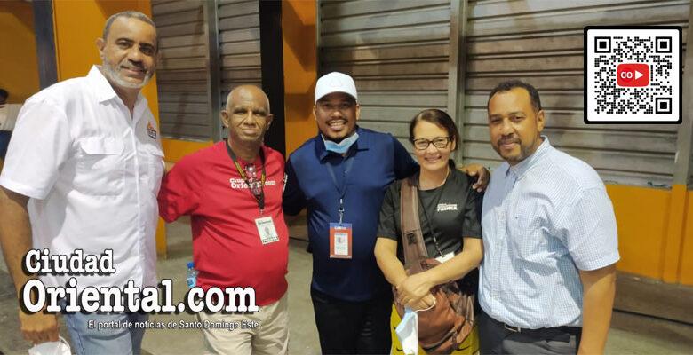 Desde la izquierda, Danilo Mesa, Robert Vargas, Jeancarlos Simanca, Cinthia Polanco y Miguel Ortega