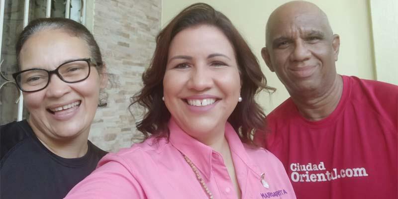 Desde la izquierda, Cinthia Polanco, Margarita Cedeño y Robert Vargas